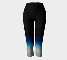 Load image into Gallery viewer, Yoga Capris-Dark Wave