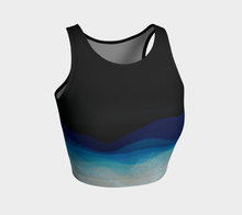 Load image into Gallery viewer, Atheletic Crop Top-Dark Wave
