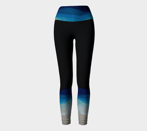 Yoga Leggings-Dark Wave