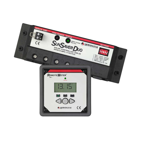 Morningstar Sunsaver Duo SSD-25RM PWM 12v 25 Amp Optional Digital Meter