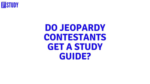 do jeopardy contestants get a study guide?