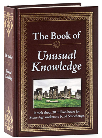 book of unusual knowledge - trivia study for jeopardy