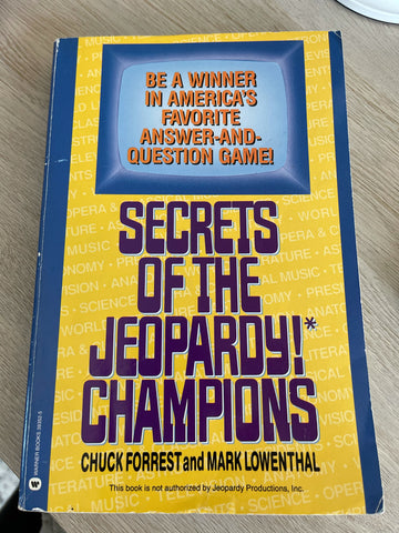 Secrets of the Jeopardy Champions - Chuck Forrest- Trivia Book Study