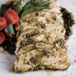 heaven eat healthy food chicken breast pesto