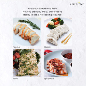 heaven eat healthy food chicken breast mixed flavours