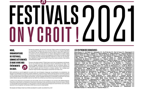 festival on y croit 2021 signatures soutiens
