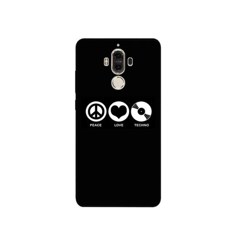 Coque Huawei Fond noir - Peace Love TECHNO