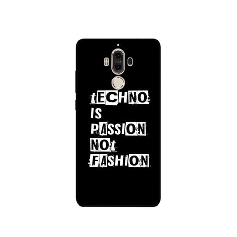 Coque Huawei Fond noir - Techno is passion not fashion