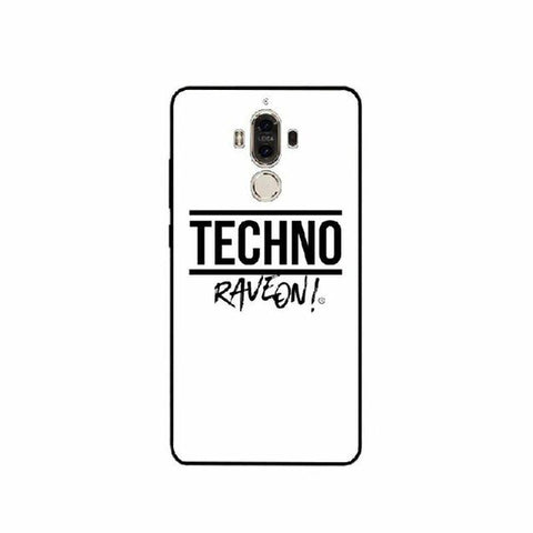 "Coque Huawei Fond Blanc - /TECHNO/ ""Rave On !"""