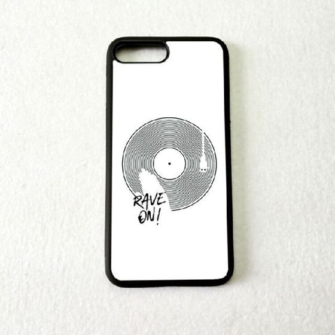 Coque Apple iPhone Fond Blanc - Vinyle Rave On!