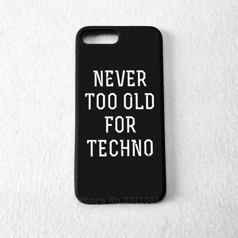 Coque Apple iPhone Fond Noir - Never Too Old For Techno