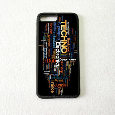 Coque Apple iPhone Fond Noir - Techno Electronic Dub