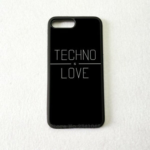 Coque Apple iPhone Fond Noir - TECHNO LOVE