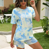 Ensemble Femme Short T-Shirt Tie and Die