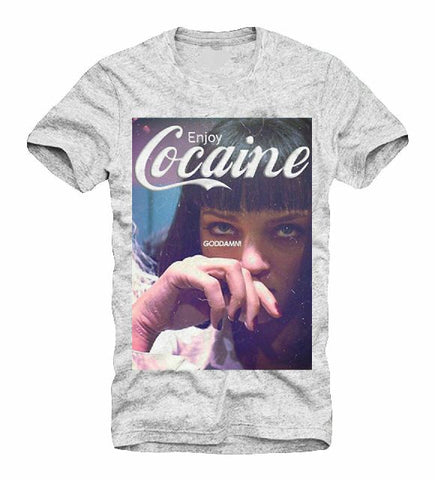 T-Shirt Enjoy Cocaine Parodie Festival