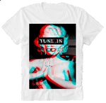 "T-Shirt Trippy Psychedelic Marilyn Monroe ""Tune In"""