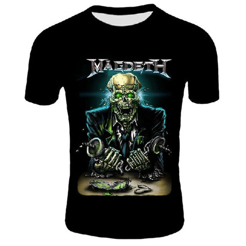 T-Shirt Rock Metal Festival - Megadeth Skeleton