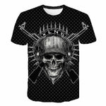 T-Shirt Skull Skeleton T-shirt Punk Rock Festival