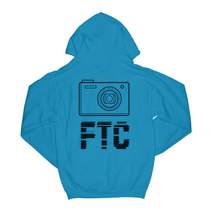 """CAMERAS ON"" HOODIE - SAPPHIRE"
