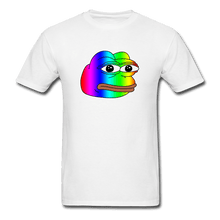 Load image into Gallery viewer, Rainbow Pepe T-Shirt - white