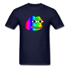 Load image into Gallery viewer, Rainbow Pepe T-Shirt - navy