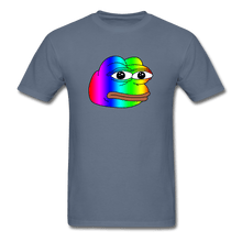 Load image into Gallery viewer, Rainbow Pepe T-Shirt - denim