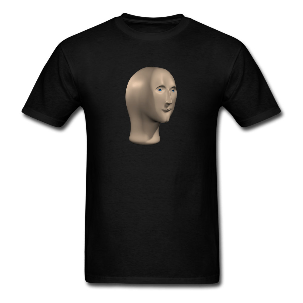 Stonks Man T-Shirt - black