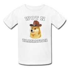 Load image into Gallery viewer, Wot N Tarnation Doge Kids' T-Shirt - white