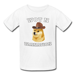 Wot N Tarnation Doge Kids' T-Shirt - white