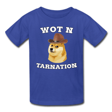 Load image into Gallery viewer, Wot N Tarnation Doge Kids' T-Shirt - royal blue