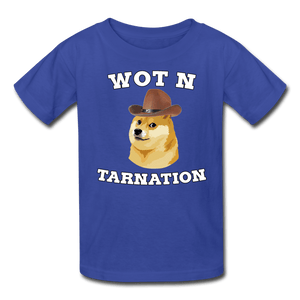 Wot N Tarnation Doge Kids' T-Shirt - royal blue