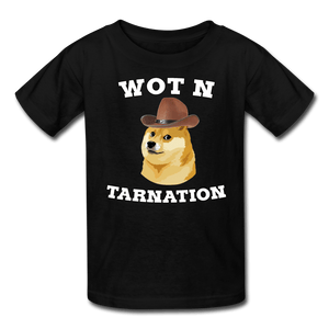 Wot N Tarnation Doge Kids' T-Shirt - black