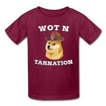 Load image into Gallery viewer, Wot N Tarnation Doge Kids' T-Shirt - burgundy