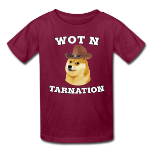 Wot N Tarnation Doge Kids' T-Shirt - burgundy