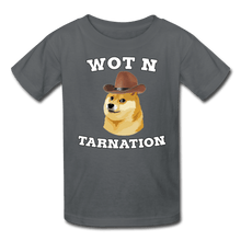 Load image into Gallery viewer, Wot N Tarnation Doge Kids' T-Shirt - charcoal