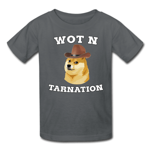 Wot N Tarnation Doge Kids' T-Shirt - charcoal