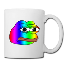 Load image into Gallery viewer, Rainbow Pepe Coffee Mug - Dank Meme Merch