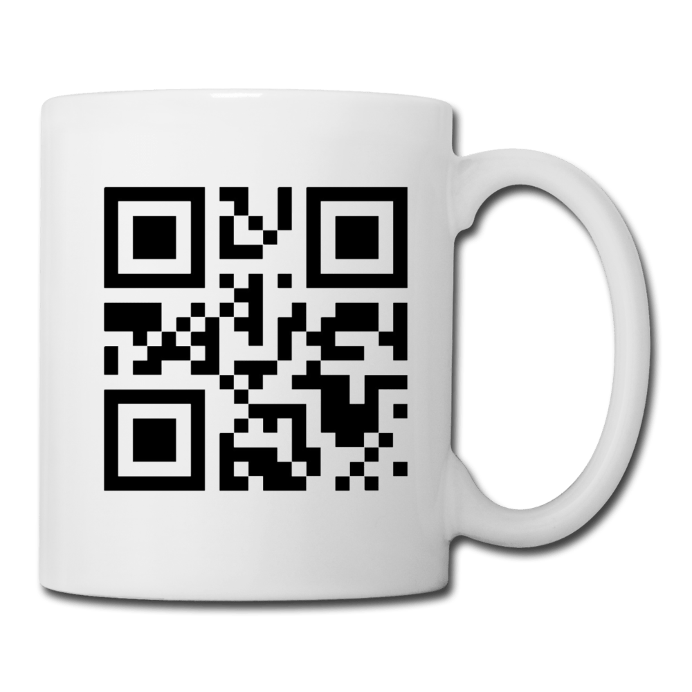 Send Nudes QR Code Coffee Mug - white