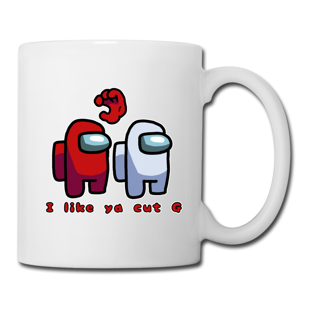 I Like Ya Cut G / Among Us Coffee Mug - white