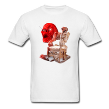 Load image into Gallery viewer, Skeleton Chair T-Shirt - white