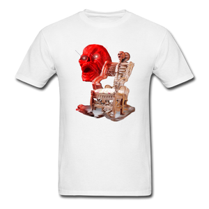 Skeleton Chair T-Shirt - white