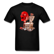Load image into Gallery viewer, Skeleton Chair T-Shirt - black
