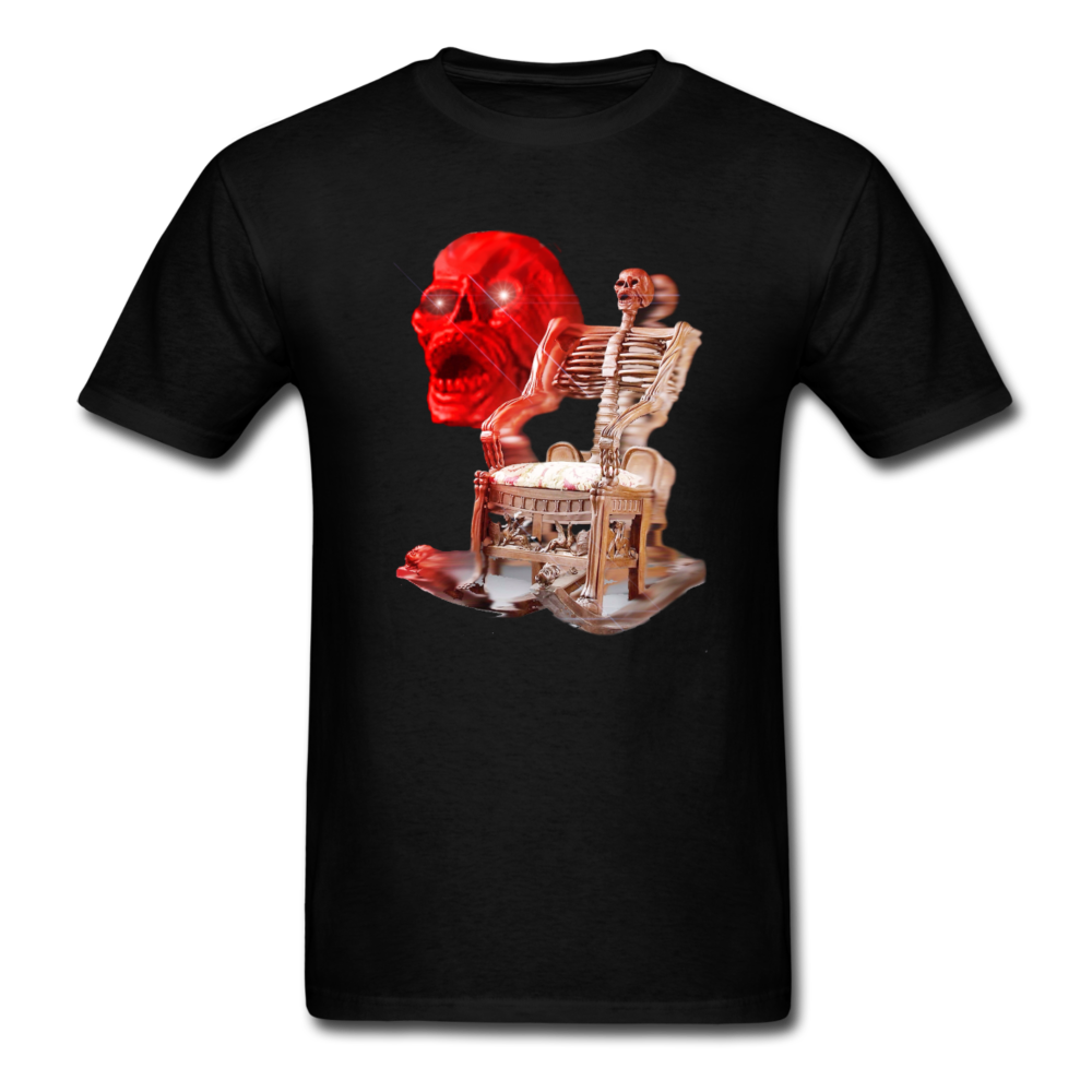 Skeleton Chair T-Shirt - black