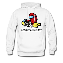 Load image into Gallery viewer, Wait It's All Cake? Hoodie - white