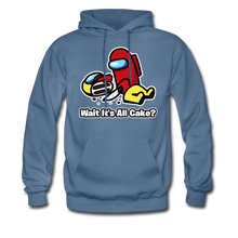 Load image into Gallery viewer, Wait It's All Cake? Hoodie - denim blue