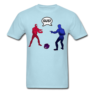 Sus Meme T-Shirt - powder blue