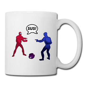 Sus Meme Coffee Mug - white