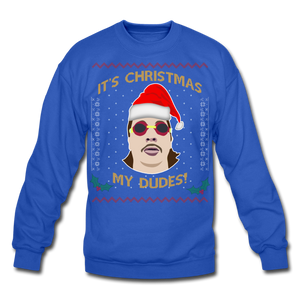 It's Wednesday My Dudes Ugly Christmas Sweater - royal blue