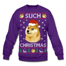 Load image into Gallery viewer, Such Christmas Ugly Sweatshirt - purple
