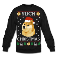 Load image into Gallery viewer, Such Christmas Ugly Sweatshirt - black